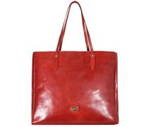 Story Donna Shopper Tasche Leder 38 cm rostrot