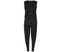Ärmelloses Jumpsuit schwarz / weiß