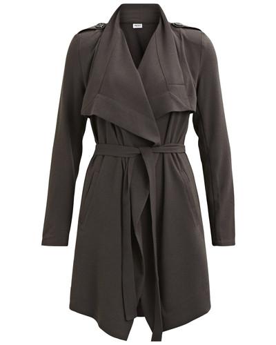object collectors item damen kurzer mantel grau reduziert. Black Bedroom Furniture Sets. Home Design Ideas