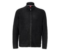 Garment Dye-Jacke mit Zipper schwarz