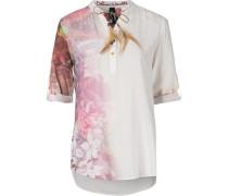 Bluse karamell / hellpink / pastellrot / naturweiß