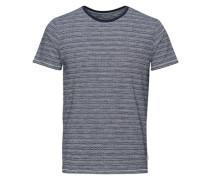 Jacquardbedrucktes T-Shirt blau