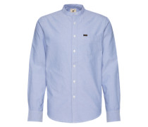 Hemd 'bandcollar Shirt' hellblau