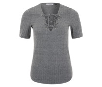 Shirt mit Schnürung 'ONLIcool' grau