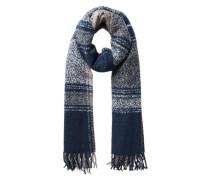 Langer Schal blau / weiß