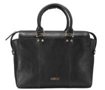 Rosella Shopper Tasche Leder 30 cm schwarz
