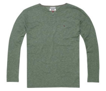 "Pullover ""thdm Basic YN Sweater L/S 17"" grasgrün"
