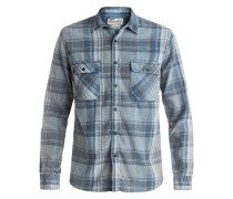 Langarm-Hemd »Happy Flannel« blau