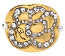 Damen Fingerring Metall Gold/Silber Ubr11305 gold / silber / weiß