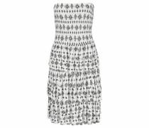 Strandkleid mit Volants schwarz / weiß