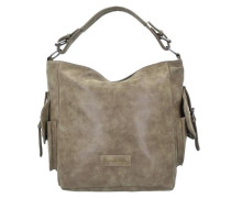 'Joanna Vintage' Shopper Tasche 44 cm ecru / dunkelbeige