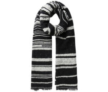 Gestreifter Schal graumeliert / schwarz
