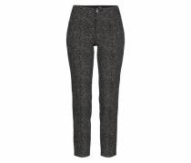 Slim-fit-Jeans 'Anna Zip' dunkelgrau