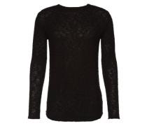 Pullover mit Strickmuster 'Alix' schwarz