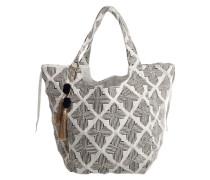 Shopper 'Came Mansion' mit geometrischem Muster schwarz / weiß