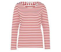 Langarmshirt 'breton stripe' rot / weiß