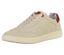Sneaker hellbeige / rotmeliert