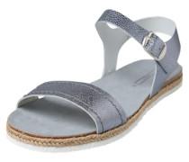 Sandalen 'Keita' taubenblau / silbergrau