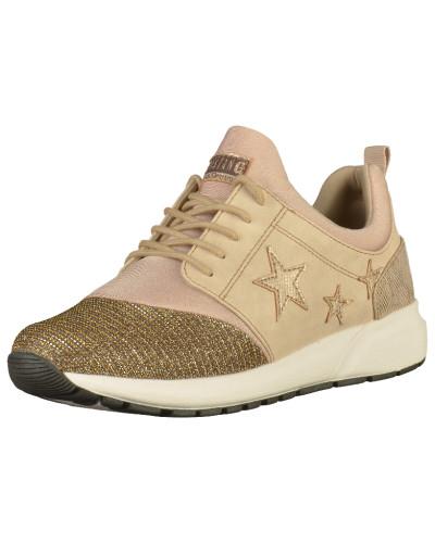 Mustang Damen Sneaker beige / gold / altrosa