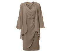 Kleid-Zweiteiler taupe