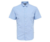 Kurzarmhemd Einfarbiges hellblau
