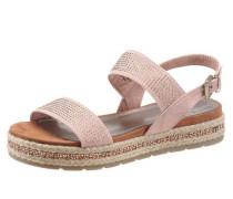 Sandalette mit Glitzersteinen rosé