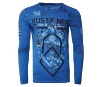 Langarmshirt mit angesagten Prints blau