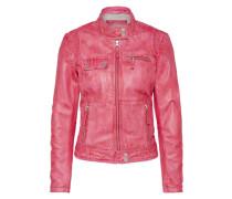 Lederjacke 'Pink!' pink