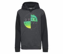 Kapuzensweatshirt anthrazit / grün / schwarz