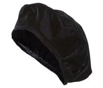 Baskenmütze aus Samt schwarz