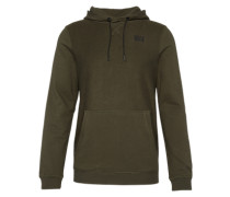 Sweatshirt 'reversed hoody' oliv