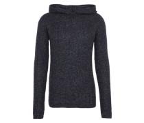 Grobstrick-Pullover mit Kapuze 'Tom' dunkelblau