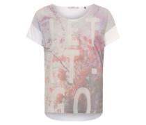 Shirt mit Digitalprint mischfarben / weiß