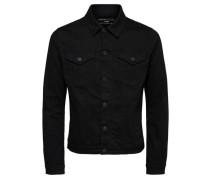 Klassische Jeansjacke schwarz