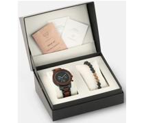 Uhr + Holzarmband