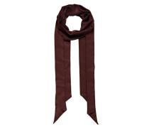 Krawattenschal aus Seide rot