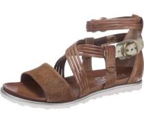 Sandaletten 'Title-Licia' braun / weiß