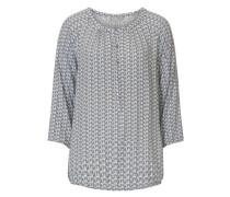 Bluse mit grafischem Muster schwarzmeliert / weiß