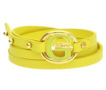 Wickelarmband Leder Gelb G Pop Ubb12238 gelb