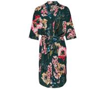 Print Kimono grün / rosa