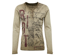 Langarmshirt 'mls Dark Riot button' khaki