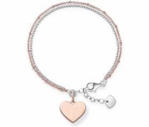 Armband »Herz LBA0102-415-12-L195v« rosegold / silber