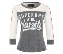 Dreiviertelarm-Shirt 'LaceFootball Top' grau