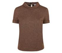 Shirt mit Glitzer-Stoff kupfer