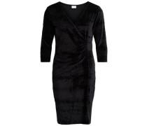 Kleid Drapier-Detail schwarz