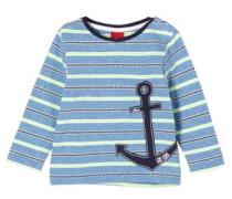Jacquard-Shirt mit Anker-Applikation hellblau