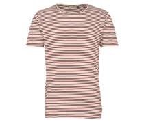 'T-Shirt' orangerot / weiß