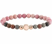Armband rosa / braun / rosegold