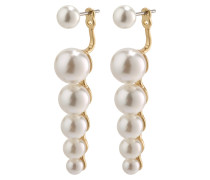 Earrings 'Maj' gold / weiß