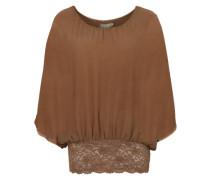 Bluse 'Falia' mokka / bronze